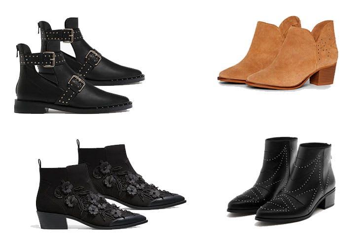 Tendencias de zapatos street style de la temporada con botines