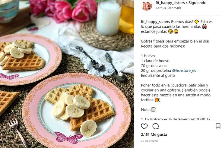 Recetas fitness y saludables en Instagram