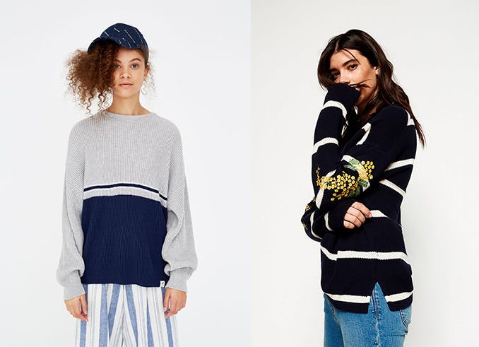 jerseis de rayas oversize