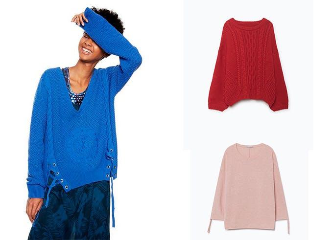 tendencias jerseis oversize tiendas