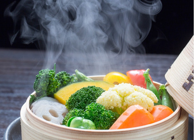 vaporera cocinar al vapor