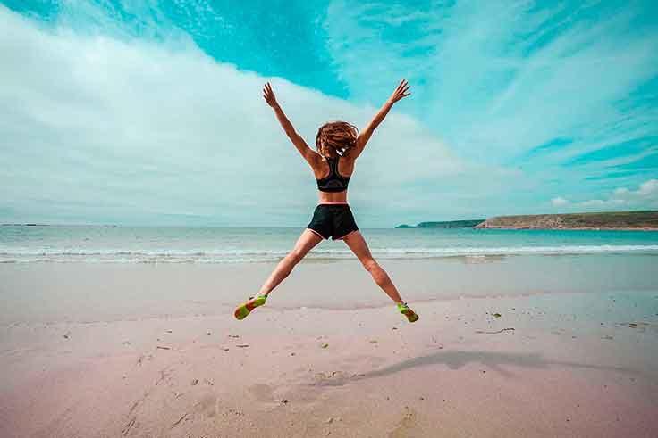 Running en la playa del Mar Menor