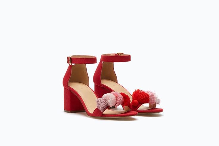 Sandalias de tacón medio para los looks de boda