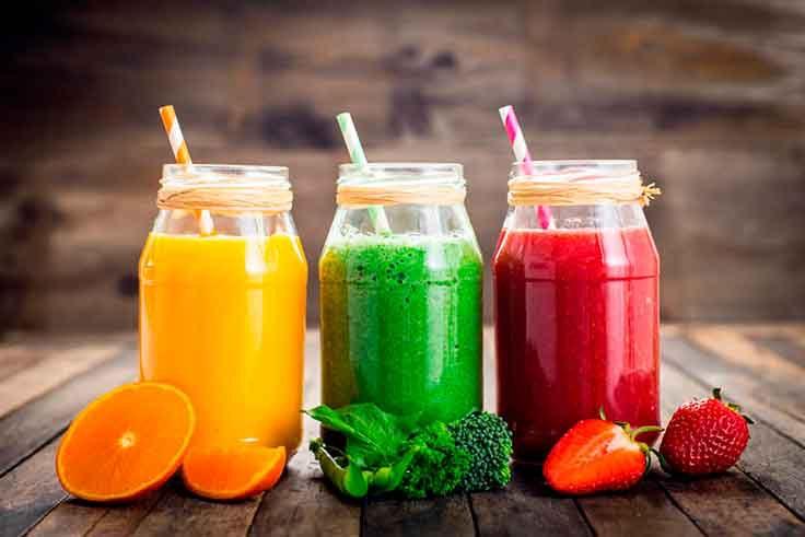 Zumos detox para dieta con vitaminas