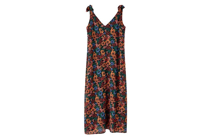 Vestidos largos de flores- vestido estampado de Pull and Bear
