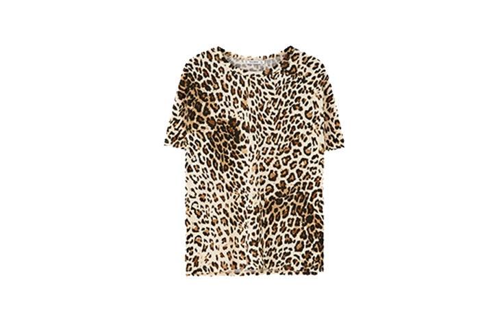 Animal print en pull and bear camiseta