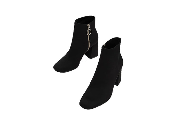 botines negros mujer stradivarius