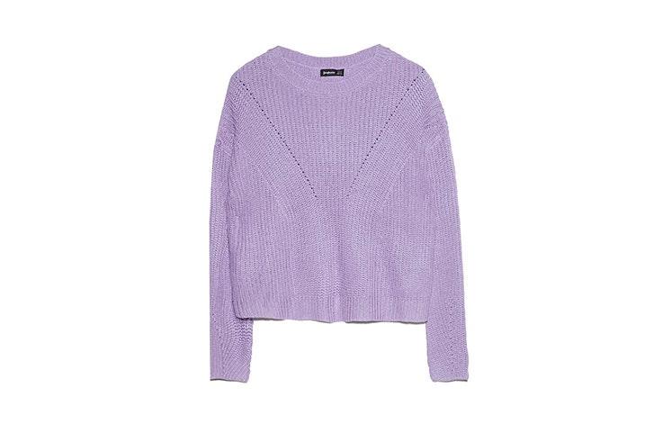rebajas stradivarius jersey violeta
