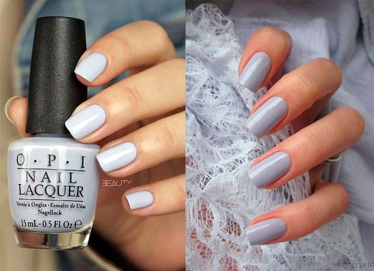 colores de uñas gris