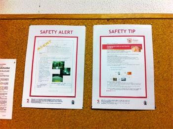 Mensagens com Safety Alerts e Safety Tips para equipas prestadoras de serviços