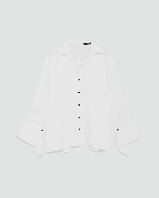 Camisa, Zara, antes a 25,95€ e agora a 9,99€