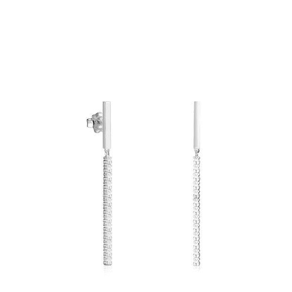 Brincos compridos Straight barra em Prata, 69€