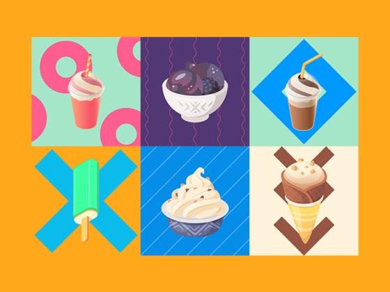 Gelados e doces para todos os gostos.