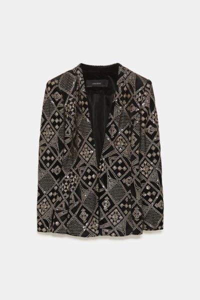 Blazer com lantejoulas, Zara, 59,95€