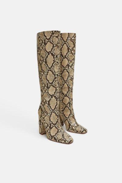 Botas animal print, Zara, 59,95€