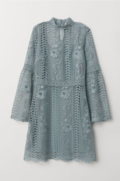 Vestido com renda, H&M, 49,99€