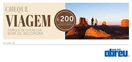Cheque Viagem, Agência Abreu, 200€