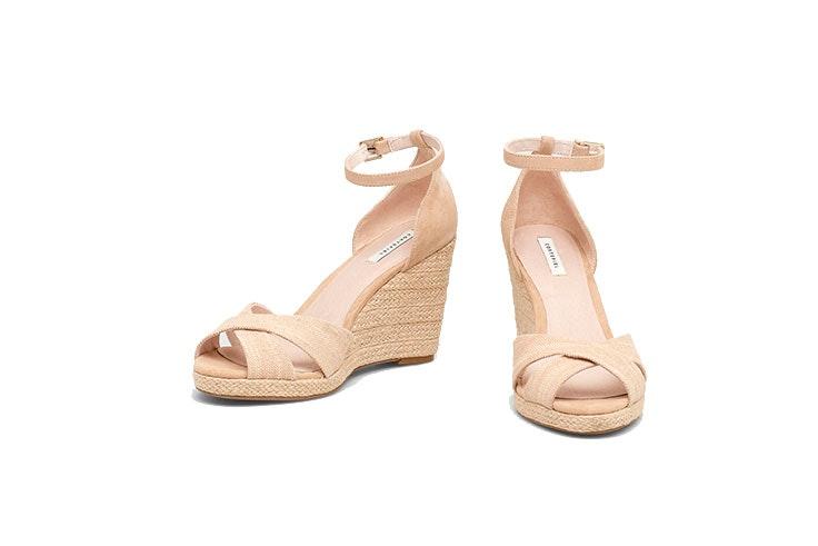 zapatos cuña Cortefiel