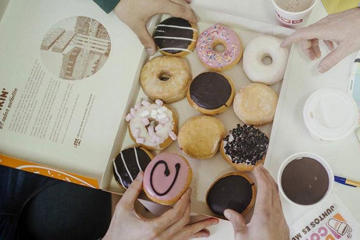 promoción Dunkin Coffee