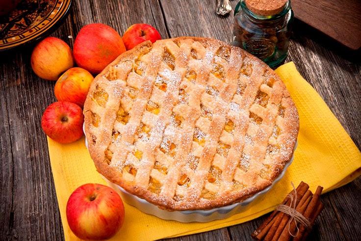 Tarta de manzana casera