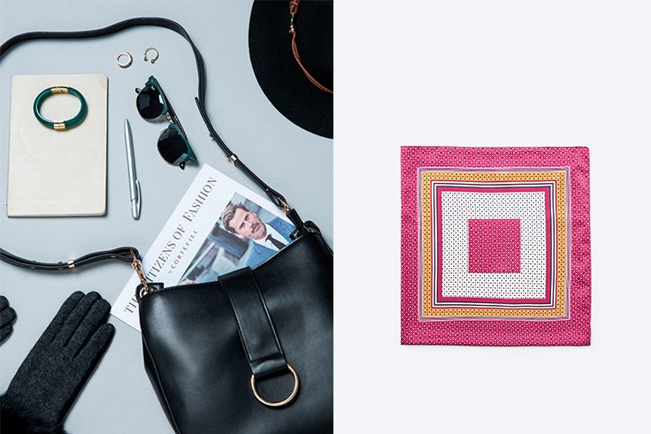 Complementos, Cortefiel, bolso, pañuelo, pulsera
