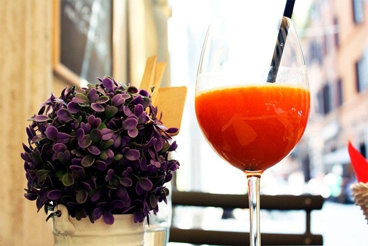 zumo, naranja, vitamina C, cuidado, cabello, otoño