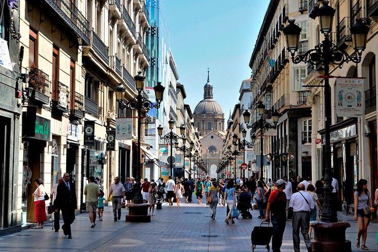 Calles, Zaragoza, fiestas, Pilar