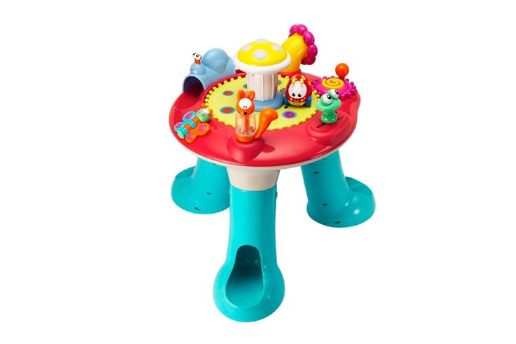 mesa de actividades para bebé