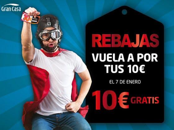 Aprovecha y llévate tu cupón de 10€ de rebajas en GranCasa