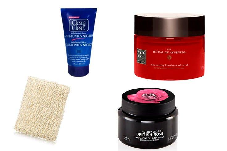 belleza cosmética cremas exfoliantes piel