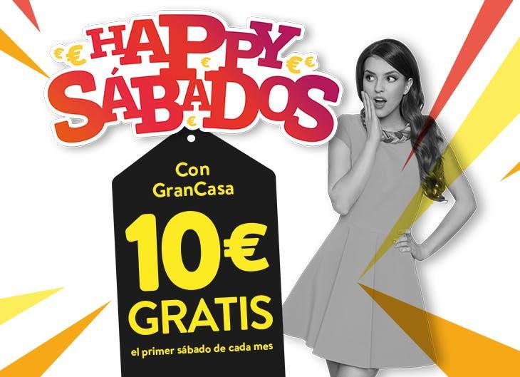 Cupón de 10 euros gratis de Happy Sábados en GranCasa