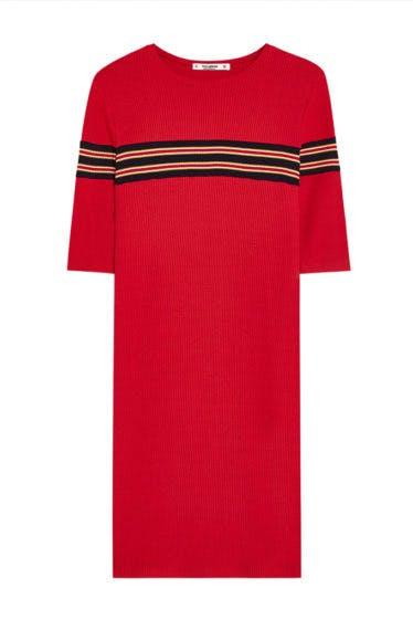 pullandbear-vestido-rayas-rojo-grancasa