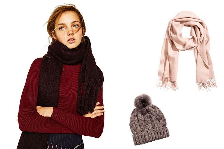 bufandas y gorros rebajados en las tiendas de GranCasa