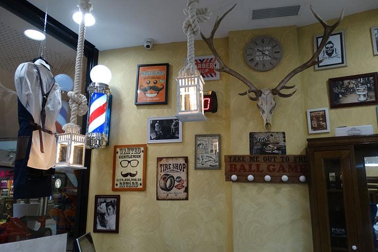 Decoración vintage de Dom Barberías en GranCasa