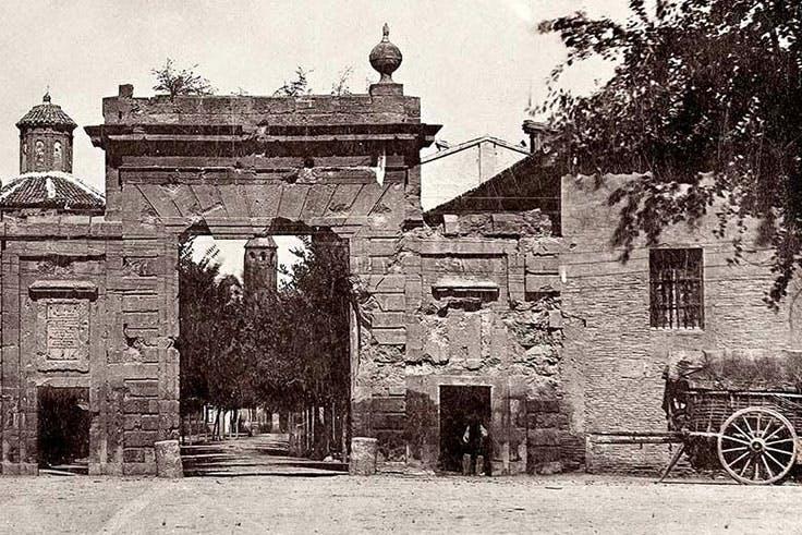 Imagen antigua de la Puerta del Carmen de Zaragoza