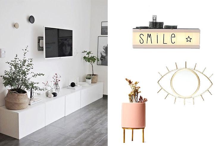 Salones modernos: muebles