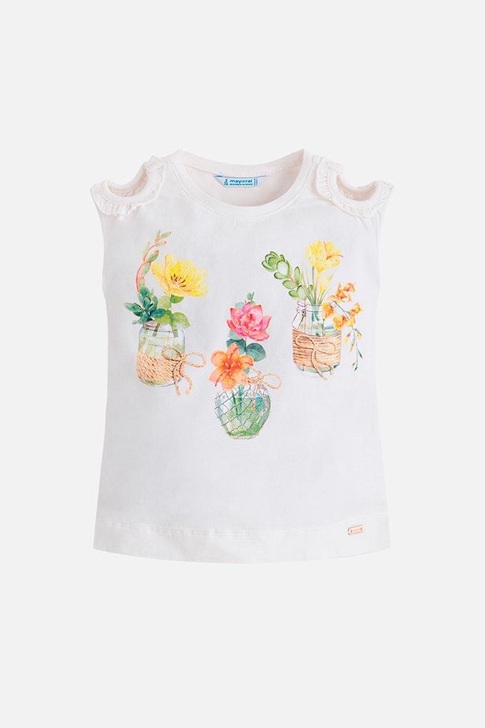 camiseta blanca niña