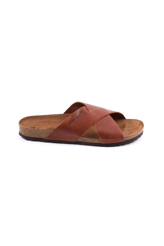 sandalias de cuero hombre
