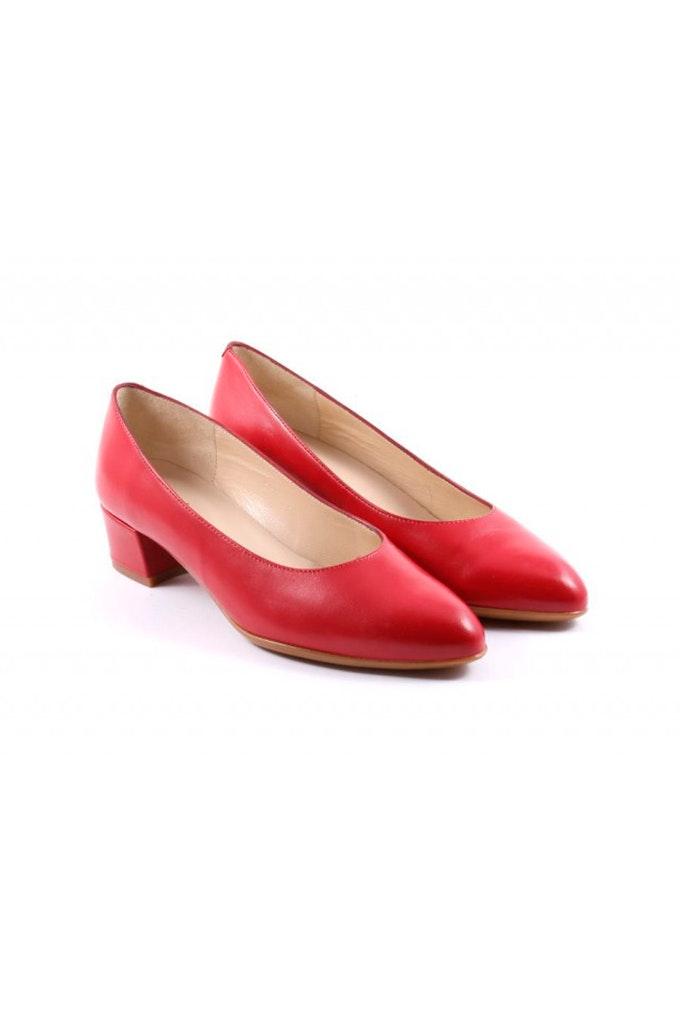 zapato tacon rojos
