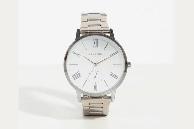 reloj-plateado-esfera-blanca-parfois
