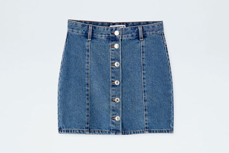 falda-vaquera-botones-pull-and-bear