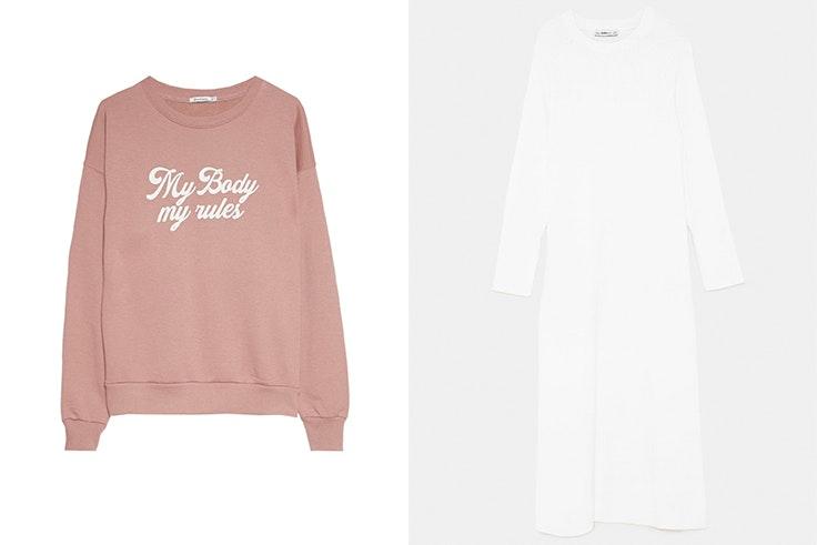 sudadera-rosa-stradivarius-vestido-blanco-zara