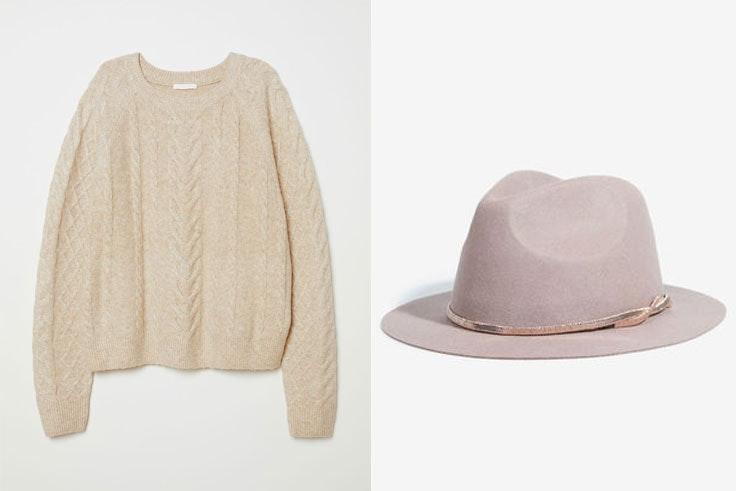 botines-serpiente-conjunto-jersey-blanco-hm-sombrero-beige-parfois