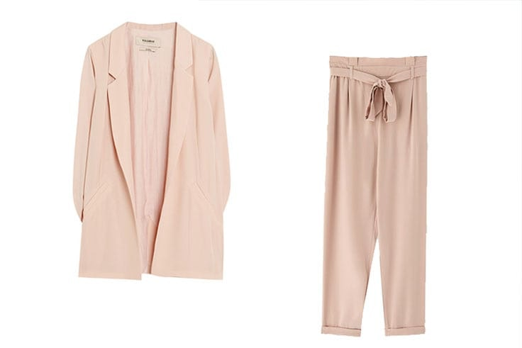 traje de chaqueta pastel pull and bear
