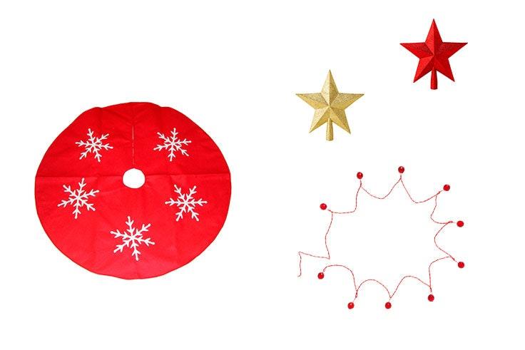 arboles de navidad rojo y dorado