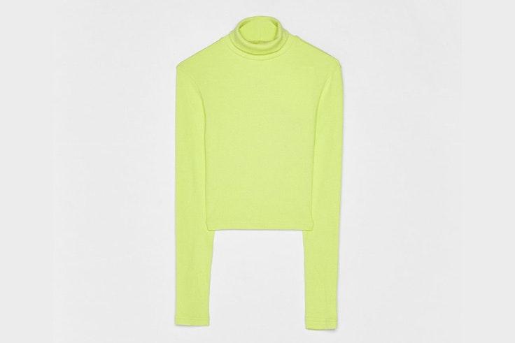 jersey-verde-neon-cuello-vuelto-bershka