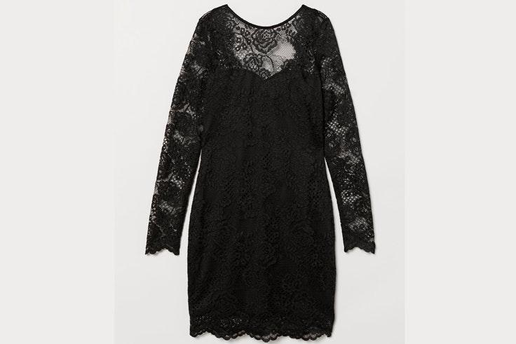 vestidos-para-nochevieja-2018-vestido-negro-de-encaje-hm