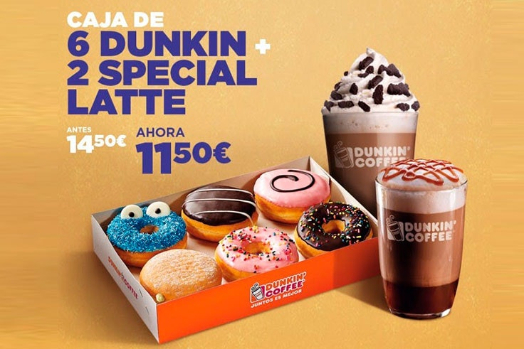 promocion dunkin coffee