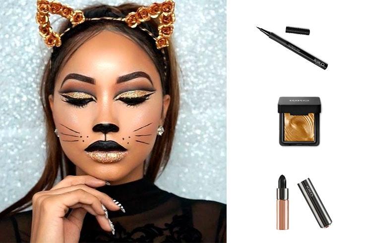 maquillaje de gata para carnaval