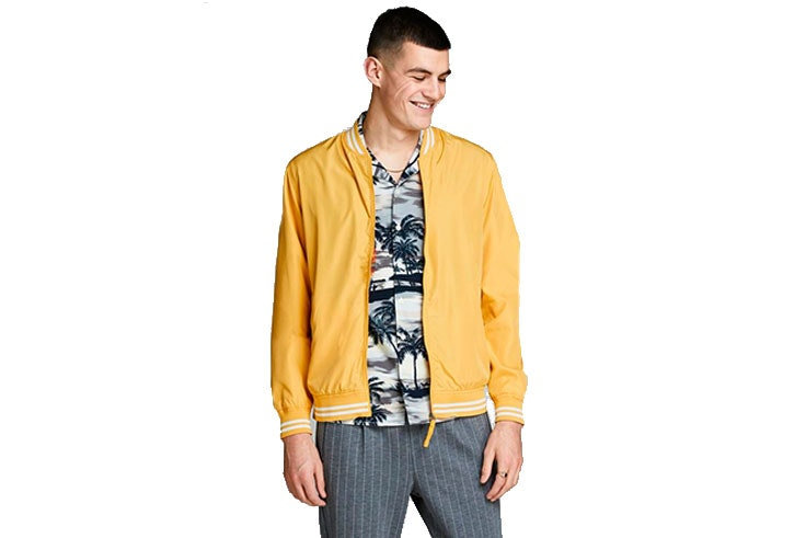 cazadoras de hombre jack and jones amarilla